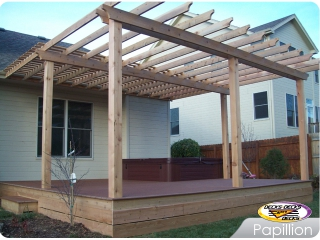 Mixed deck with arbor