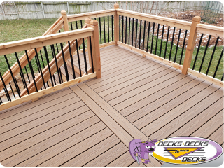 Mixed composite cedar deck nebraska