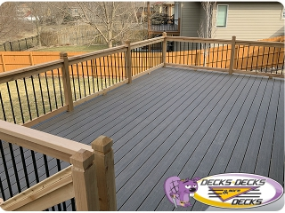 composite deck metal rails omaha