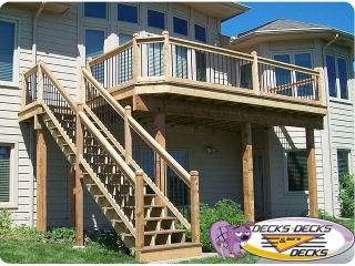 mixed composite metal balusters deck omaha