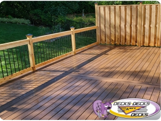 privacy fence deck project omaha