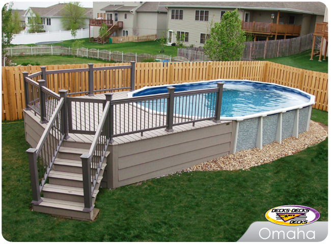trex low maintenance material built around an above ground pool timbertech spa deck