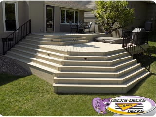 Azek decks omaha builder spa landscape