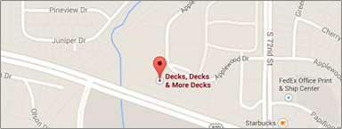 Location Map of Omaha for Decks Decks & More Decks