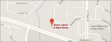 Location Map of Omaha for Decks Decks & More Decks