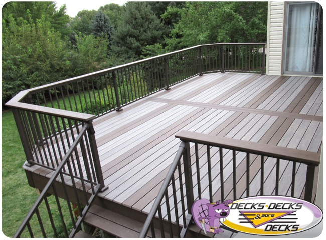 Grey Custom Deck with Custom Pattern
