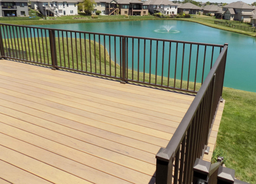custom deck in omaha with beautiful view